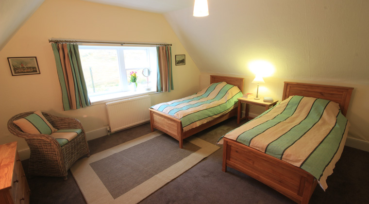 Stag Lodge First Twin Bedroom