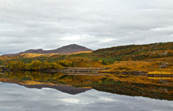 Hills reflecting in the loch