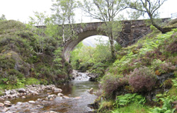 Bridge crossing the river Carron