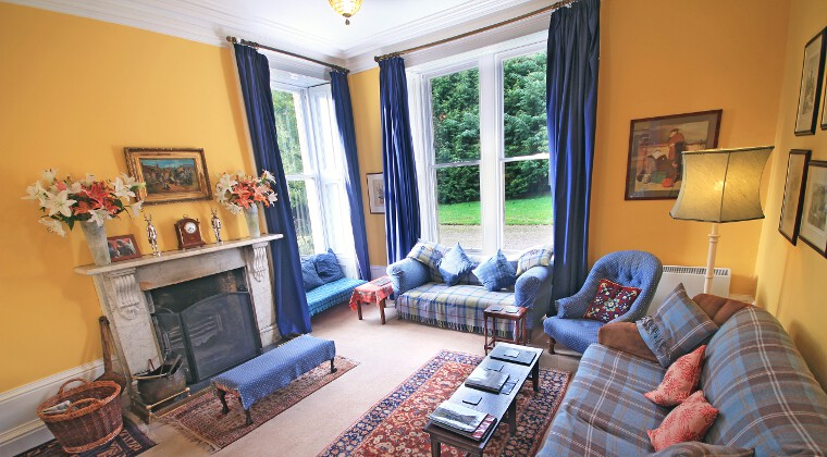 Glencarron Lodge Drawing Room